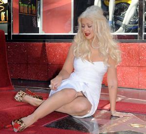 Кристина Агилера, фото 8. Christina Aguilera Upskirt, photo 8