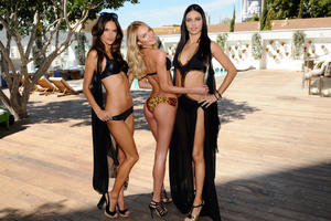 th 535200987 download 13 122 162lo Adriana Lima, Alessandra Ambrosio & Candice Swanepoel @ VS Angels swimwear launch 2011 high resolution candids