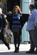 Maria Menounos on the set of Extra at Universal Studios 03/05/14